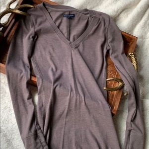 American Eagle Outfitters Taupe Brown Long Sleeve